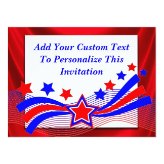 Patriotic All American Stars & Stripes Invitation