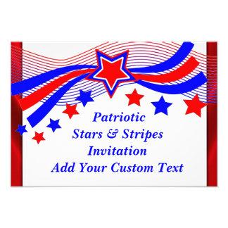 Patriotic All American Stars Stripes Invitation