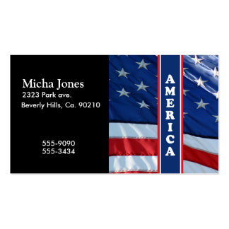 Patriotic Amercia Red White & Blue Business Card
