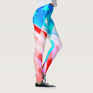 Patriotic America Abstract Leggings
