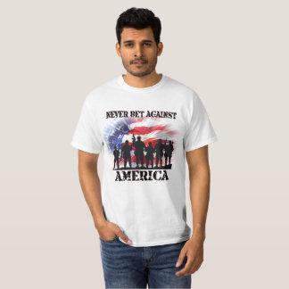 Patriotic America Never Bet Against America T-Shirt