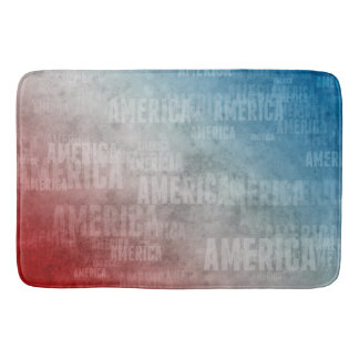 Patriotic America Text Graphic Bath Mats