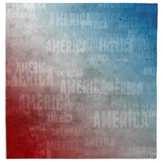Patriotic America Text Graphic Napkin