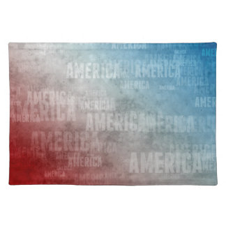Patriotic America Text Graphic Placemat