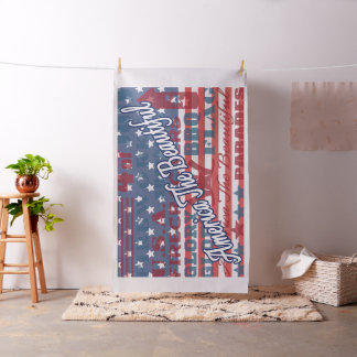 Patriotic America the Beautiful Independence Day Fabric