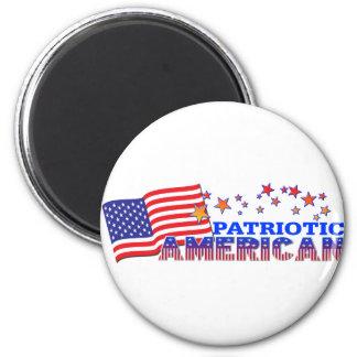 Patriotic American 6 Cm Round Magnet