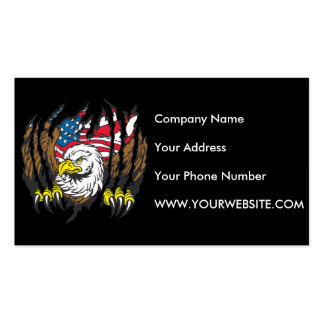 Patriotic American Bald Eagle USA Flag Pack Of Standard Business Cards