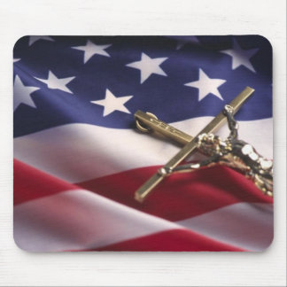 PATRIOTIC AMERICAN CHRISTIAN MOUSE PAD