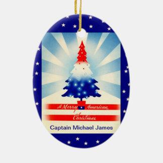 Patriotic American Christmas Tree Ornament