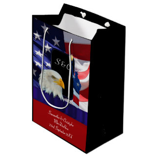 Patriotic American eagle and flag Medium Gift Bag