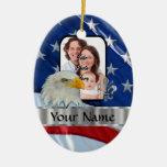 Patriotic American eagle Christmas Ornament