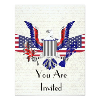 Patriotic American eagle & flag Card