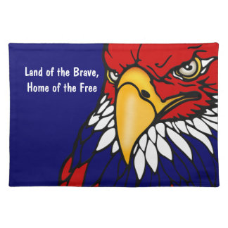 Patriotic American Eagle July 4th Placemats