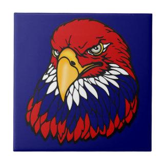 Patriotic American eagle July 4th Tile