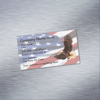 Patriotic American Eagle Magnetic Business Card