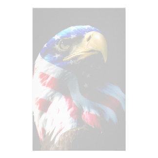 Patriotic American Eagle Personalised Stationery