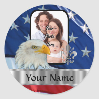 Patriotic American eagle Round Sticker