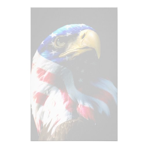 Patriotic American Eagle Stationery Paper