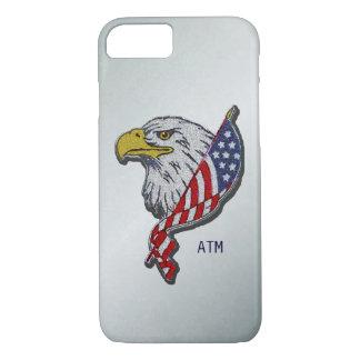 Patriotic American Eagle With Flag Custom Monogram iPhone 7 Case