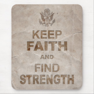 Patriotic American Faith and Strength Mouse Pad