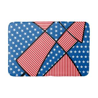 Patriotic American fireworks Bath Mats