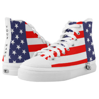 Patriotic American flag 4th of July custom shoes