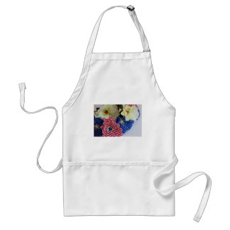 Patriotic American Flag 4th of July Flower Bouquet Standard Apron