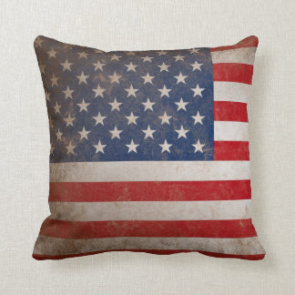 Patriotic American Flag 50 Stars Cushion