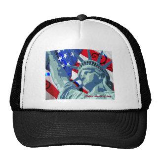 Patriotic American Flag and Statue of Liberty Cap