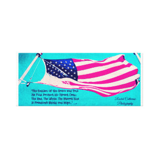 Patriotic American Flag Canvas Art