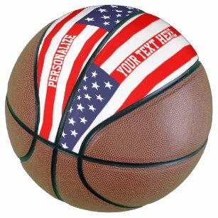 Patriotic American flag custom basketball gift