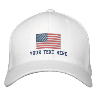 Patriotic American flag custom sports hat USA cap