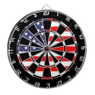 Patriotic American flag dartboard design   Grungy