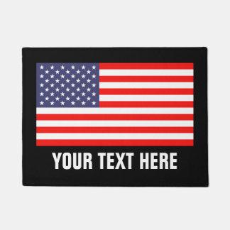 Patriotic American flag door mat for home or store