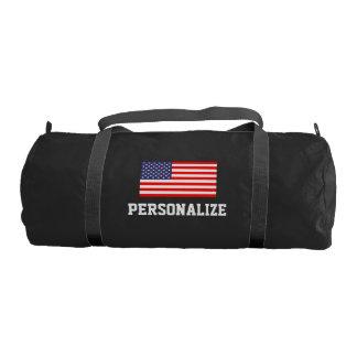 Patriotic american flag duffle gym bag | Customize