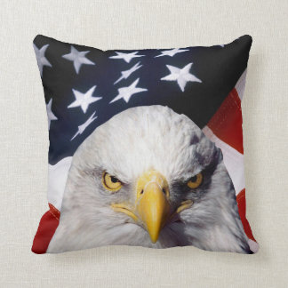 Patriotic American Flag Eagle Accent Pillows-2 Cushion