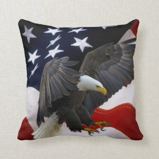 Patriotic American Flag Eagle Accent Pillows-4 Cushion