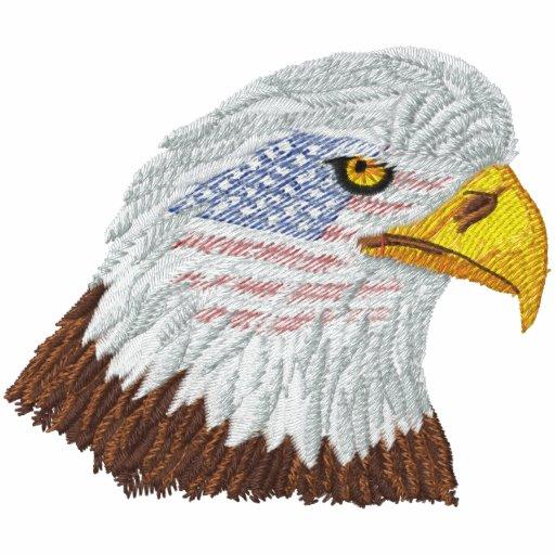 Patriotic American Flag Eagle Head