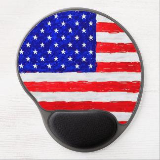 Patriotic American Flag Gel Mouse Pad