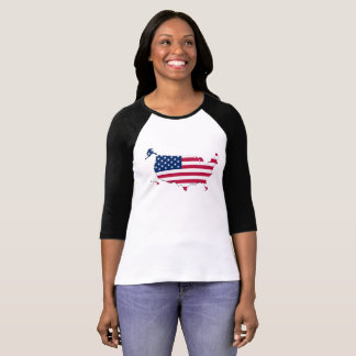 Patriotic American Flag Map Of The United States T-Shirt