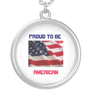 Patriotic American Flag Necklace