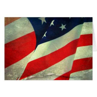 Patriotic American Flag Note Card