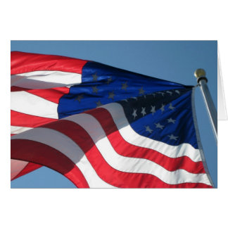 Patriotic American Flag Note Card