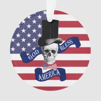 Patriotic American flag Ornament