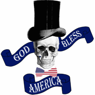 Patriotic American flag Photo Cutouts