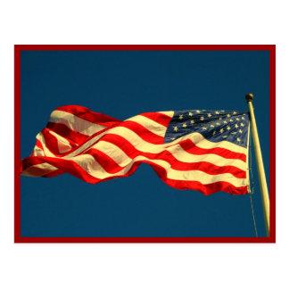 Patriotic American Flag Postcard