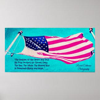 Patriotic American Flag Poster