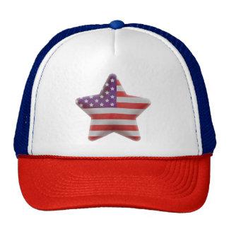 Patriotic American flag star Cap