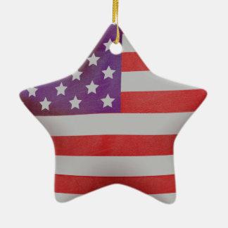 Patriotic American flag star Ceramic Star Decoration
