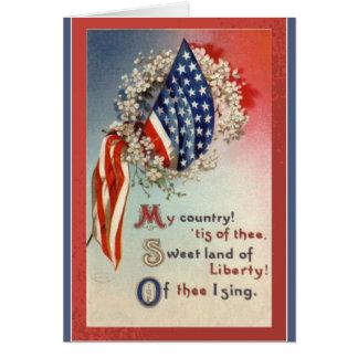 Patriotic American Flag Verse Card